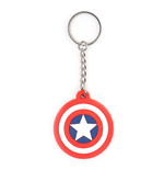 Schlüsselring Marvel Comics - Captain Shield Logo - Gummi