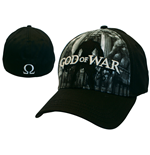 Kappe God Of War - Flex Front full Print in schwarz.
