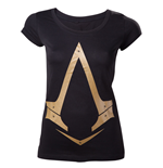 T-Shirt Assassins Creed Gold Metallic Logo