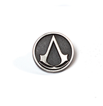 Brosche Assassins Creed  - Metall Round Pin mit Logo