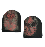Mutze Alchemy  - Double Layers Skull Beanie W/Stone