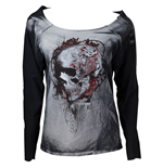 Sweatshirt Alchemy  - Faded Flower Skull