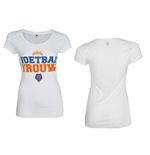 T-Shirt KNVB - Voetbal Vrouw in weiss