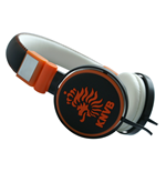 Ohrhörer KNVB - Headphone in schwarz/orange