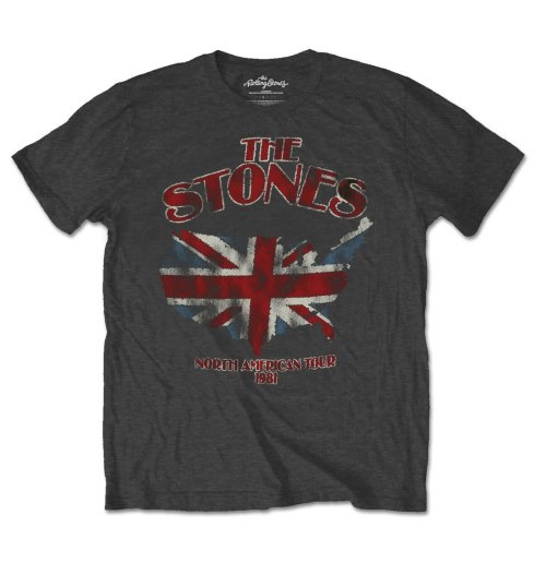 T-Shirt The Rolling Stones: Union Jack US Map
