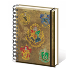 Harry Potter Notizbuch A5 Hogwart's Crests