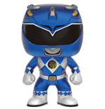 Power Rangers POP! Television Vinyl Figur Blue Ranger (Metallic) 9 cm