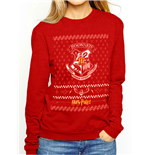 Sweatshirt Harry Potter  Christmas Crest CREW in rot Unisex