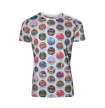 T-Shirt Pokémon - Pokeball Allover Print - Mann
