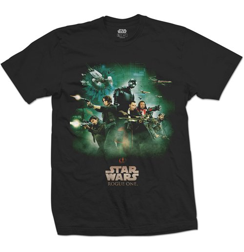 Star Wars T-Shirt für Männer - Design: Rogue One Rebels Poster