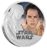 Star Wars Episode VII 1 Oz Silbermünze Rey