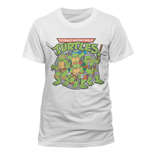 T-Shirt Ninja Turtles Mutant Ninja - Group - Unisex in weiss