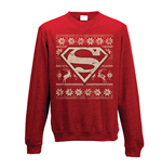 Sweatshirt Superman - Fair Isle. Unisex in rot