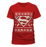 T-Shirt Superman - Fair Isle Logo - Unisex in rot