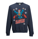 Sweatshirt Superman - Christmas Hero - Unisex in blau