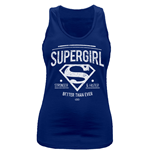 Top Supergirl - Better Than Ever - tailliert in blau