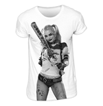 T-Shirt Suicide Squad - Harley Photo Sublimation - unisex in weiss