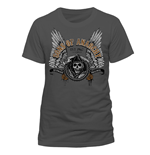 T-Shirt Sons of Anarchy - Winged Logo - Unisex in grau