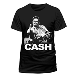 T-Shirt Johnny Cash - Finger - Unisex in schwarz.