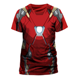 T-Shirt Iron Man - Iron Man Costume Sublimation - Unisex in rot