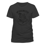 T-Shirt Harry Potter  - Distressed Hogwarts - Unisex in grau.