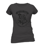 T-Shirt Harry Potter  - Distressed Hogwarts - Woman tailliertes T-shirt in grau