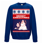 Sweatshirt Adventure Time - Merry Christmas - Unisex in blau
