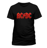 T-Shirt AC/DC - Red Logo - Unisex in schwarz.