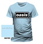 T-Shirt Oasis - Definitely Maybe - Unisex in blau