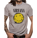 T-Shirt Nirvana - Smiley Splat - Unisex in grau