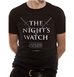 T-Shirt Game of Thrones  - Nights Watch Unisex in schwarz