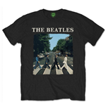 T-Shirt Beatles - Abbey Road with Logo Black