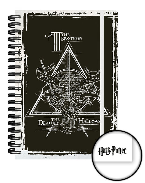 Notizbuch Harry Potter Deathly Hallows Graphics A5 Notebook