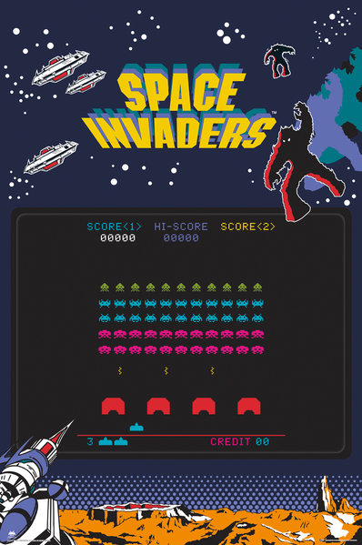 Poster Space Invaders  248510