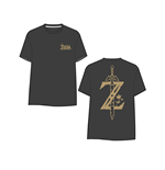 T-Shirt The Legend of Zelda - Greath of the Wild - Golden Game Logo on Back