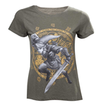T-Shirt The Legend of Zelda Woman's Link at the Gate of the Time. Large. In Military Grun