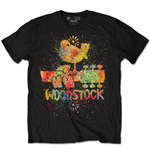 T-Shirt Woodstock - Splatter Special Edition Black