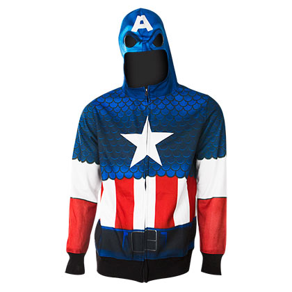 Sweatshirt Captain America  Full Zip Costume