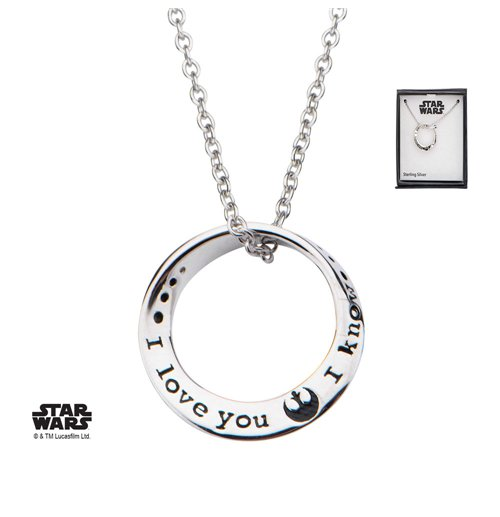 Star Wars Halskette I love you. I know 46 cm (Sterling Silber)