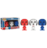 Peanuts Mini POP! Vinyl Figuren 3er-Pack Snoopy Rock The Vote 4 cm