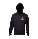 Jacke The Legend of Zelda Men's Golden Triforce Logo Full Lenght Zipper. Medium in schwarz
