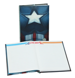 Captain America Civil War Notizbuch mit Leuchtfunktion Captain America Chest
