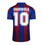 Trikot Barcelona Home Score Draw 1992 (Guardiola 10)