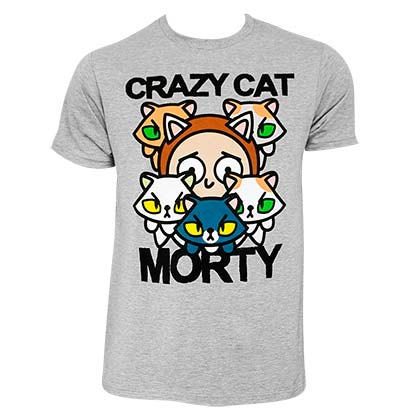 T-Shirt Rick and Morty Crazy Cat