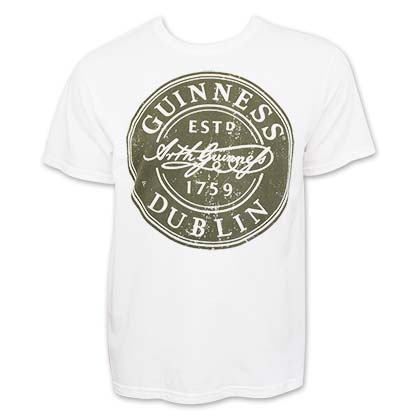 T-Shirt Guinness Bottle Cap Label