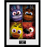 Kunstdruck Five Nights at Freddy's - Quad 30 x 40 cm. Mit Rahmen