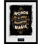 Poster mit Rahmen Harry Potter - Words 30 x 40 cm.