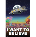Poster Rick and Morty - I want To Believe - 61 x 91,5 cm.