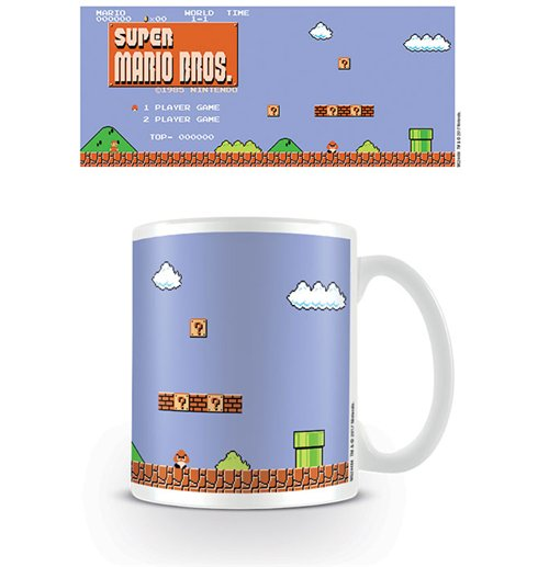 Super Mario Bros. Tasse Retro Title