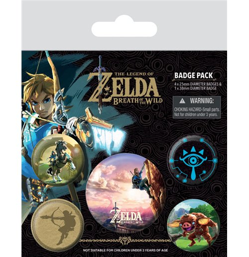 The Legend of Zelda Breath of the Wild Ansteck-Buttons 5er-Pack The Climb